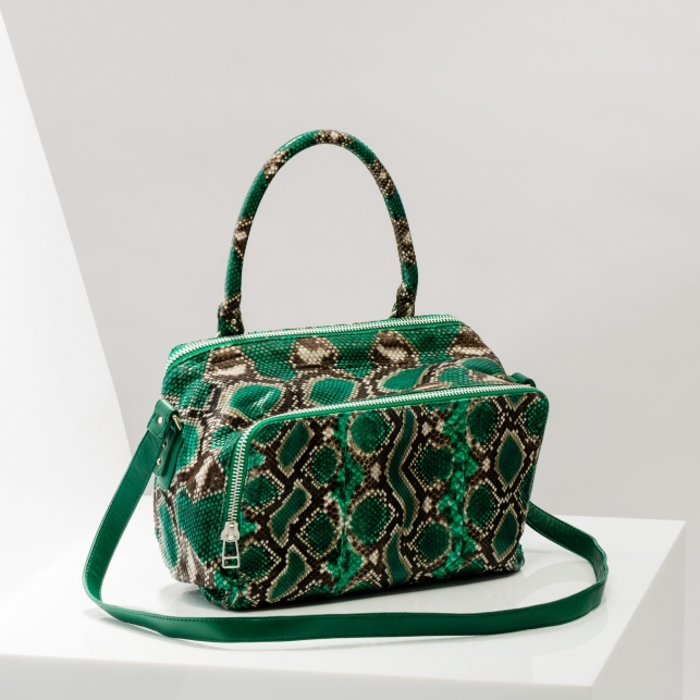 Claris Virot: Bag Lalya Green Painted - Hiphunters Shop