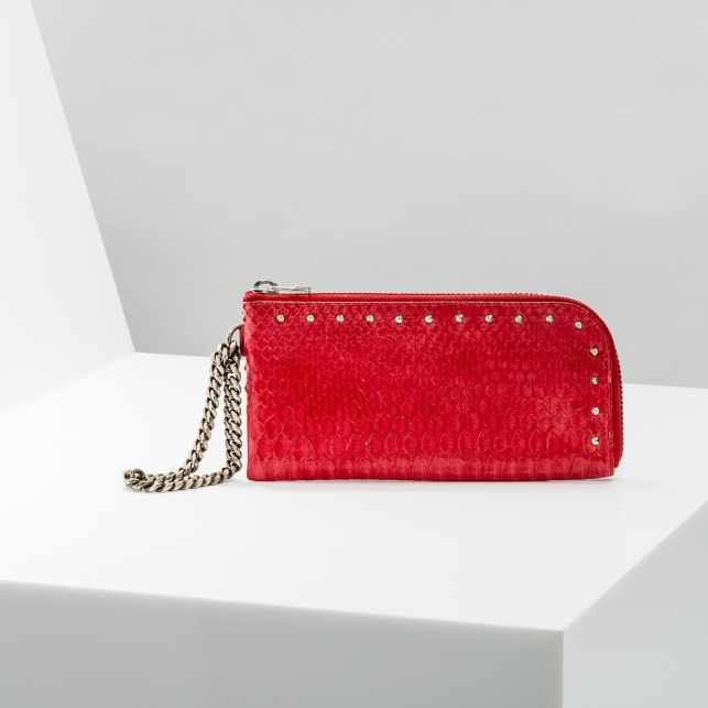 Claris Virot: Wallet/Clutch Adele Red - Hiphunters Shop