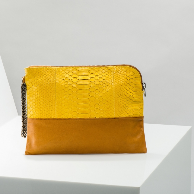 Claris Virot: Clutch Justine Yellow - Hiphunters Shop