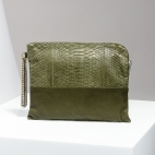 Claris Virot: Clutch Justine Khaki | Bags,Bags > Clutches -  Hiphunters Shop