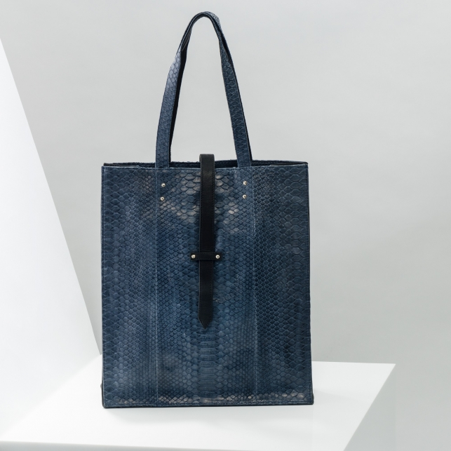 Claris Virot: Tote Bag Georgia Navy - Hiphunters Shop