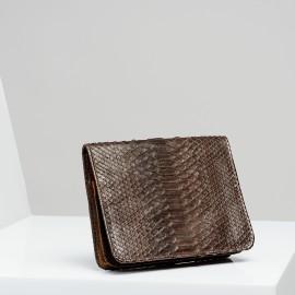 Pochette Python Roland Chocolat