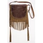 Claris Virot: India Chocolate Fringes Bag | Bags,Bags > Shoulder Bags -  Hiphunters Shop