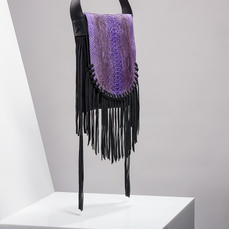 Claris Virot: India Purple Fringes Bag - Hiphunters Shop