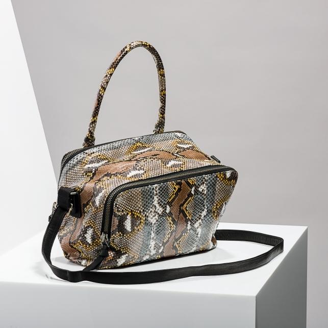 Claris Virot: Bag Lalya Grey Painted - Hiphunters Shop