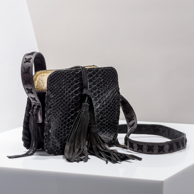 Claris Virot: Shoulder Strap Chiara Bag Black - Hiphunters Shop