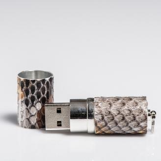 Clé USB habillée gris painted