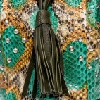 Claris Virot: Bucket Bag Green Painted | Bags,Bags > Shoulder Bags -  Hiphunters Shop
