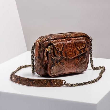 Claris Virot: Bag Charly Moka Gold Chain - Hiphunters Shop