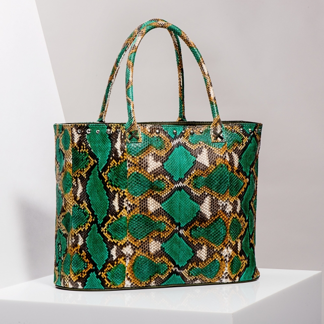 Claris Virot: Tote Bag Johnny Green Painted - Hiphunters Shop