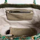 Claris Virot: Tote Bag Johnny Green Painted   Bags,Bags > Totes -  Hiphunters Shop