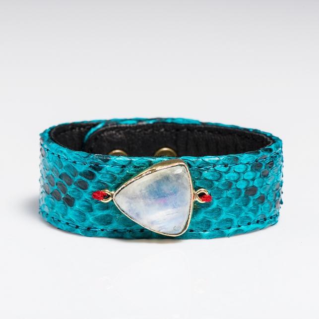 Claris Virot: Python Bracelet Turquoise - Hiphunters Shop