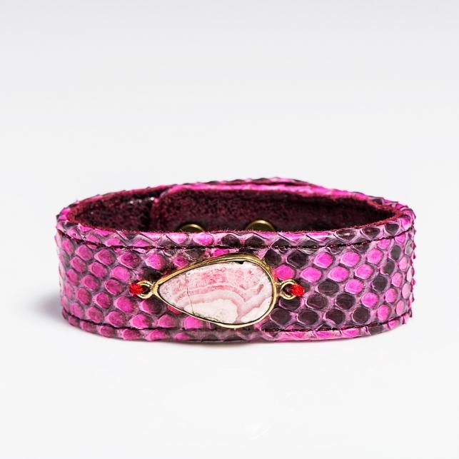 Python Bracelet  Fuschia