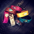 Claris Virot: Python Bracelet Kaki | Jewelry,Jewelry > Bracelets -  Hiphunters Shop