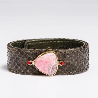 Bracelet Python Kaki