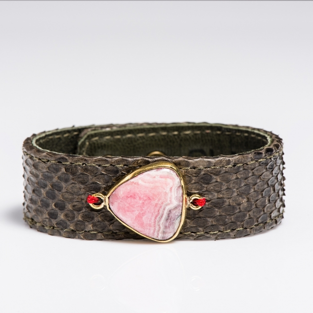 Claris Virot: Python Bracelet Kaki - Hiphunters Shop