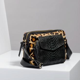 Sac Python Big Charly Leopard Noir