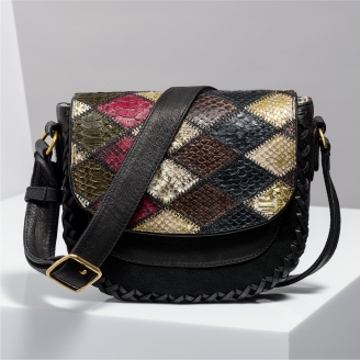 Sac Besace Python Andrea Patchwork