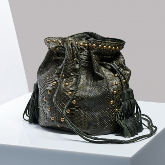 Sac Seau Python Big Mary Kaki Dark Kaki
