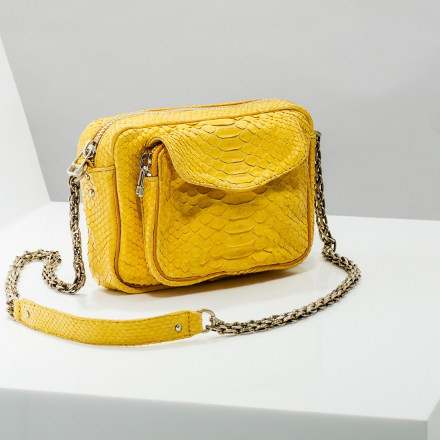 Claris Virot: Silver Chain Yellow Charly Bag - Hiphunters Shop