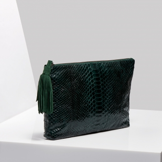 Pochette Andy Python Green Forest