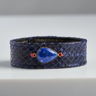 Bracelet Python Bleu Electrique