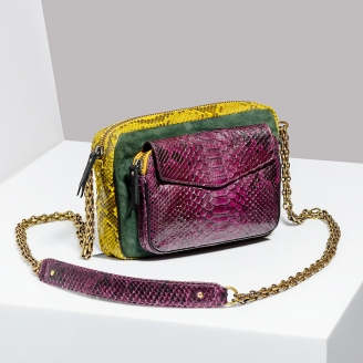Sac Bandoulière Python Charly Tricolore