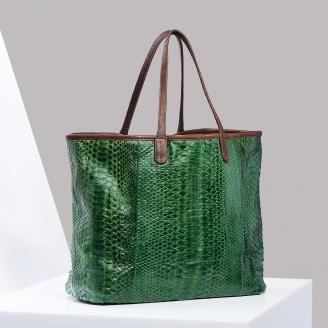 Cabas Python Matcha Vert Marny