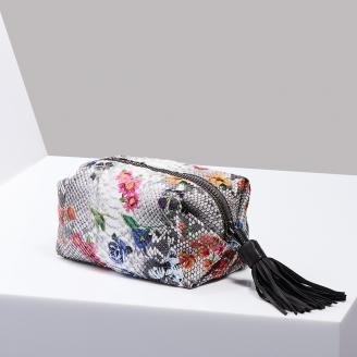 Trousse Paulette Python Fleur