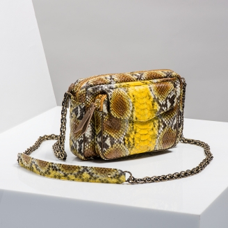 Sac Bandoulière Charly Jaune Painted Chaine Or