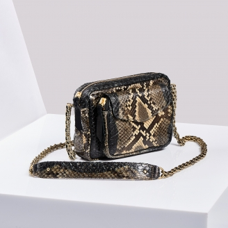 Sac Python Charly Dark Grey Painted