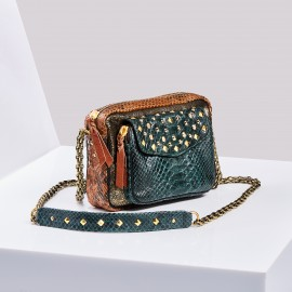 Sac Python Charly Tricolore Clous