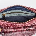 Shoulder Bag Charly Burgundy Gold Chain