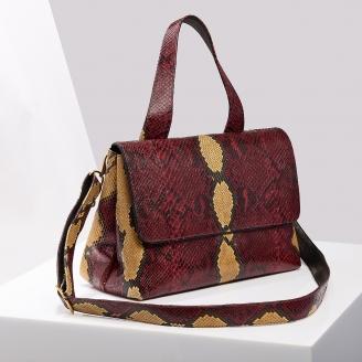 Sac Python Mimi Burgundy Painted