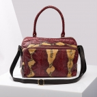 Burgundy Painted Python Bag Lalya