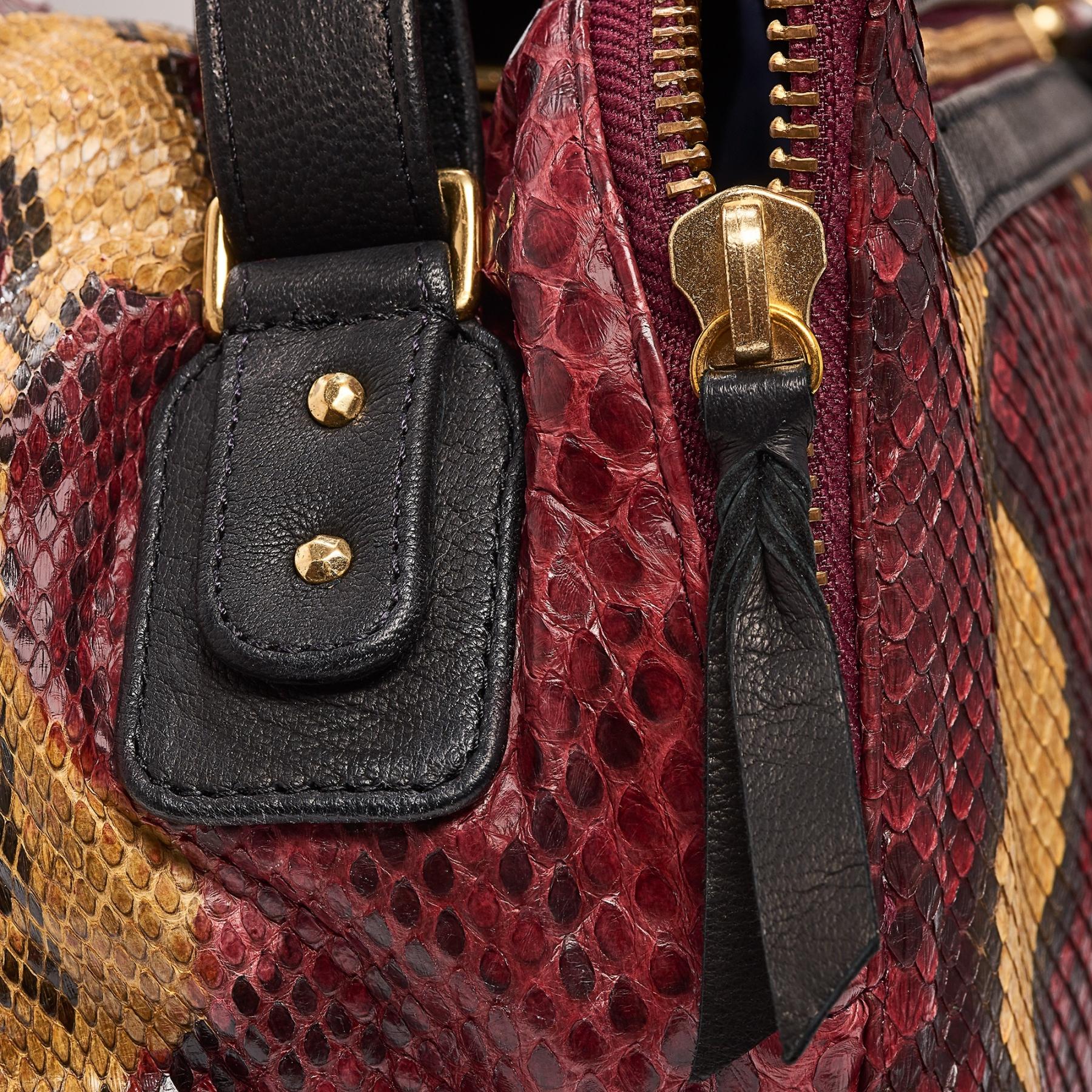Burgundy Painted Python Shoulder Bag Lalya 4f87c81eb6a1f