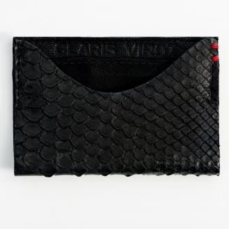 Porte Carte Python Manu Noir