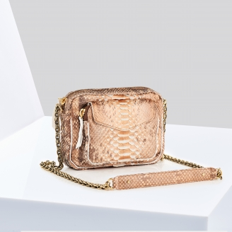 Sac Python Charly Or Rose Métallique