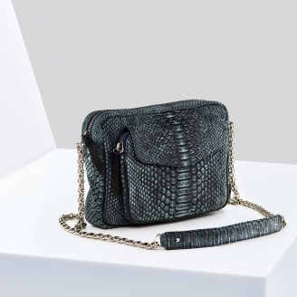 Sac Python Big Charly Denim Chaîne