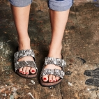 Sandals Odette Watersnkake silver studs