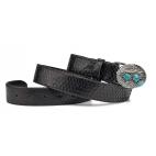 Black Python Turquoise Belt