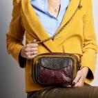 Bag Python Charly Mustard Tricolor