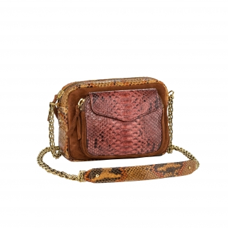 Sac Python Charly Tricolore Rose