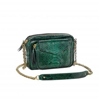 Bag Charly Dark Green Python