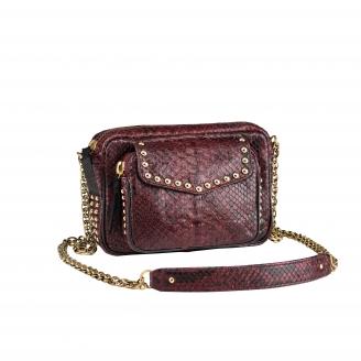Shoulder Bag Charly Burgundy Studs