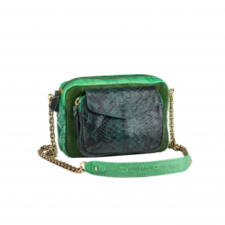 Bag Python Charly Green Tricolor