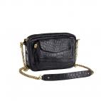 Bag Crocodile Charly Black Gold Chain