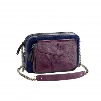 Python Bag Big Charly Tricolor Violet Chain