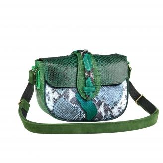 Python bag Andrea Tricolore Green