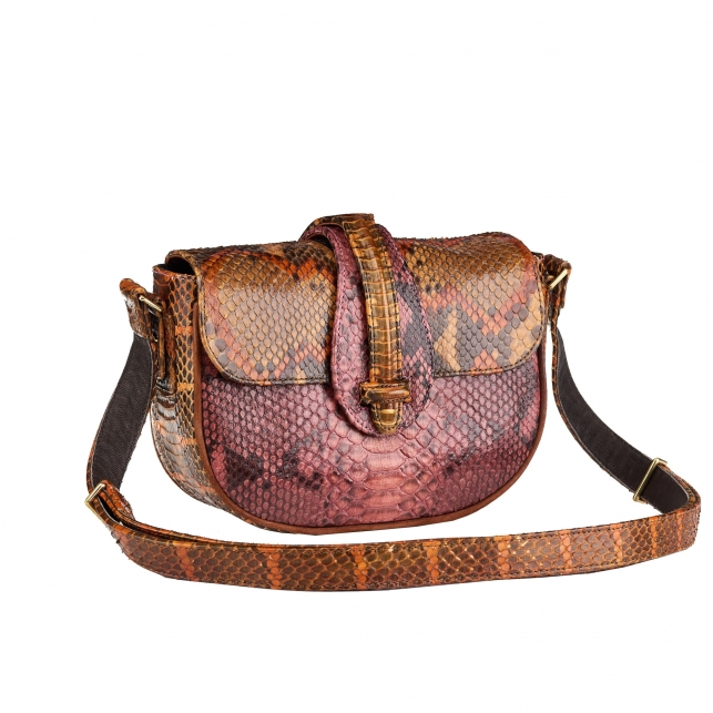 Python bag Andrea Tricolore Pink